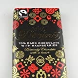 Pack Of Three Divine Dark Chocolate with Raspberries