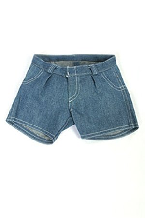 "Blue Jean Shorts Teddy Bear Clothes Fit 14"" - 18"" Build-a-bear, Vermont Teddy Bears, and Make Your Own Stuffed Animals"