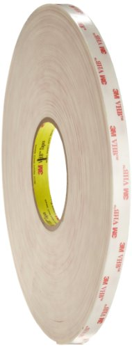 3M VHB Acrylic Foam Tape 4945 White, 1/2 in x 36 yd 45.0 mil