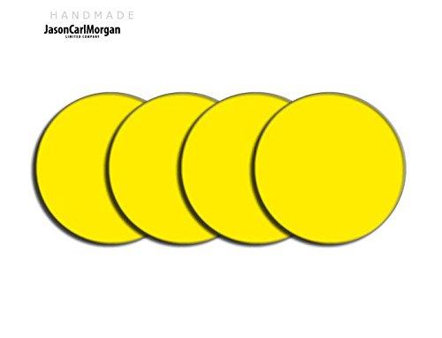 Centre de roue en alliage PAC Badges pour Skoda Honda mg (Clr 57mm), en, jaune