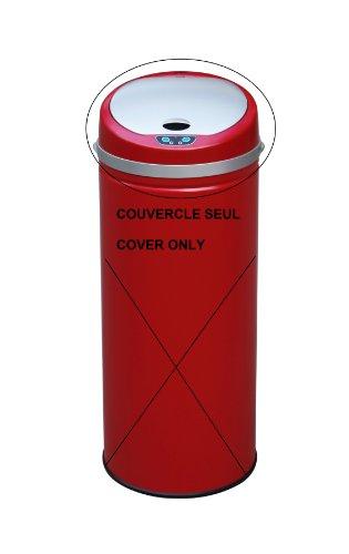 Kitchen Move 105 Couvercle pour Poubelle Automatique de Cuisine avec Capteur Sensoriel ABS Rouge 30.5 x 13 x 30.5 cm