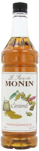 Monin Flavored Syrup, Caramel, 33.8-Ounce Plastic Bottles (Pack of 4)