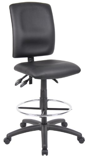 Boss Multi-Function Leatherplus Drafting Stool Without Arms