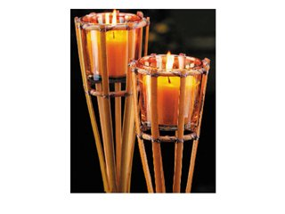 Hhsw Hl0809 Bamboo Candle 30in Display