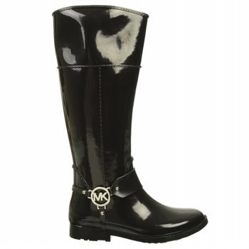 Michael Michael Kors Women'S Fulton Harness Tall Rain Boot (Black 6.0 M)