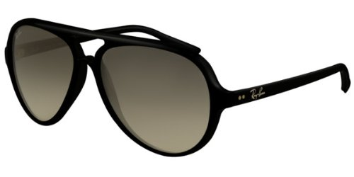 Ray-Ban Sunglasses AUTHENTIC Unisex Cats 5000 Shiny Black / Crystal Gray Gradient lenses RB4125-601/32