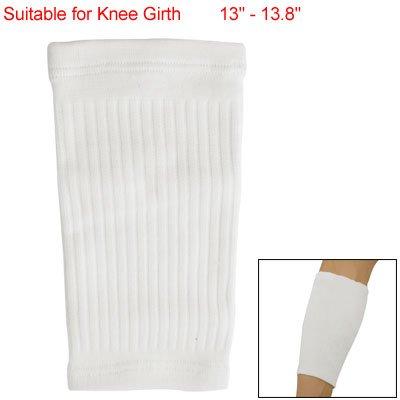 1PCS White Elastic Shin Calf Support Brace Sleeve Bandage