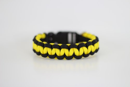 Black and Yellow Paracord Bracelet 7 Inches