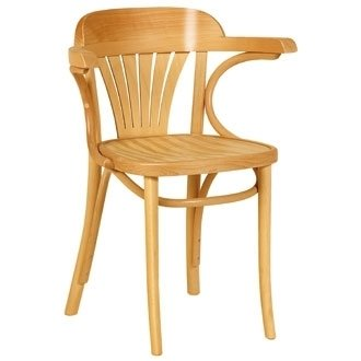 Kitchen / Dining Chairs -Bentwood Fan Back Armchair (Natural) (Pack 2) - stylish and robust furniture for your home or business