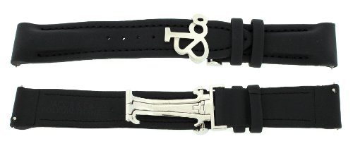 Jacob & Co. Genuine Black Poly Rubber Band Strap 20MM For 40MM Watch (Jacob And Co Watch Band compare prices)