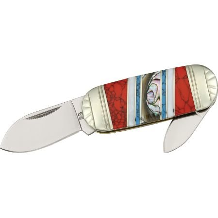 Rough Rider Stoneworx Small Sunfish Fold Knife, SS spear and pen blade