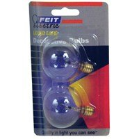 Long Life Vanity Globe Light Bulb (Pack Of 2) Glass Color: Clear, Wattage: 25W