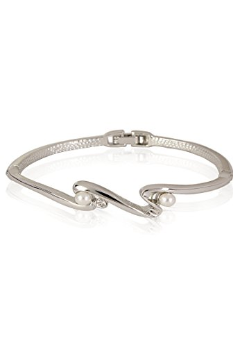 Estelle Estelle Silver Plated Bracelet With Pearl For Women