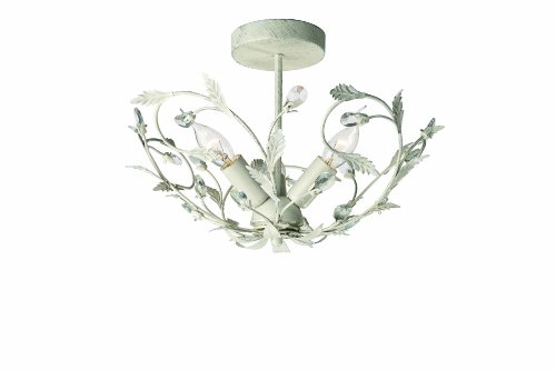 Eseo Corelli 37458/18/13 Triple Light Ceiling Light (Cream)