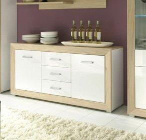 madeline sideboard kommode hg weiss ahorn rosales. Black Bedroom Furniture Sets. Home Design Ideas