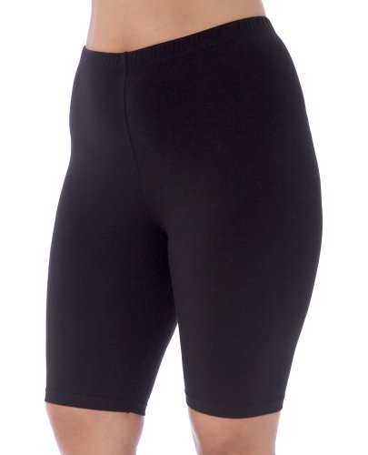 Danskin+Women%27s+Plus+Size+Cotton+Bike+Short%2CBlack%2C2x