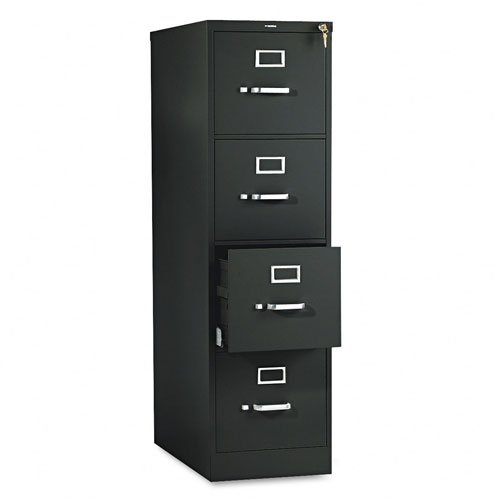 HON 514PP 510 Series 52 by 25-Inch 4-Drawer Full-Suspension Letter File, Black