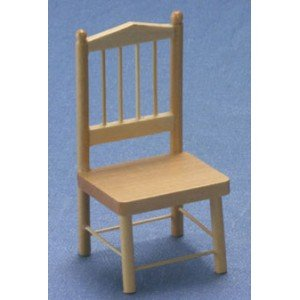 Dollhouse Oak Kitchen Chair - 1