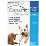 Capstar for Small Dogs and Cats 2-25-lbs- 6-count 11.4-mg