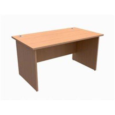 417721 - Trexus Classic Rectangular Bean Bag Bazaar de escritorio W1400xD800xH725mm madera de haya