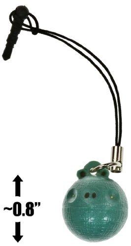 "Death Star Pig ~0.8"" Angry Birds Star Wars Mini-Figure Phone Dangler Series #1"