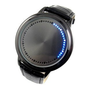 White & Blue LED Touch Screen Watch (Blue light)
