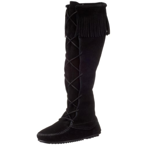 Minnetonka Women's 1429 Knee-High Boot,Black,9 M US