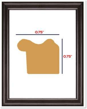 75-inches-Satin-Black-Cherry-Maroon-and-Oak-Wrapped-Solid-Wood-Picture-Poster-photo-Frame