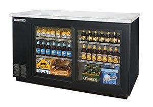 "Beverage Air (Bev Air) BB58GSY-1-B 59"" Back Bar Refrigerator with 2 Sliding Glass Doors 115V"