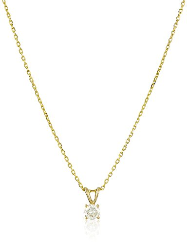 14k-Gold-Round-Cut-Diamond-Solitaire-Pendant-Necklace-K-L-Color-I1-I2-Clarity-18