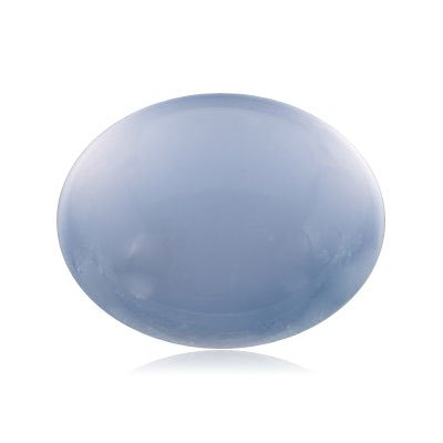 2.55 Cts of 10x8 mm AA Oval Cabochon Genuine Blue Chalcedony ( 1 pc ) Loose Gemstone