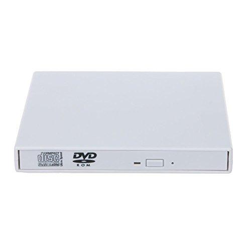 DLPIN® USB2.0 External Slim Portable Optional Drive CD±RW DVD ROM Combo Burner Drive White