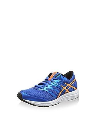 Asics Zapatillas de Running Gel-Zaraca 4 Gs (Azul Eléctrico / Naranja / Negro)