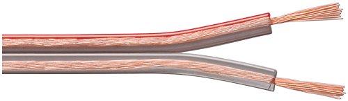 Wentronic LSK 2X2.5Lautsprecherkabel bobine de 100 m (section 2 x 2,5 mm ²) transparente  (Import Allemagne)