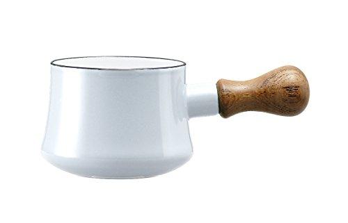 DANSK enamel pot series bistro butter warmer white 520030 17024WH