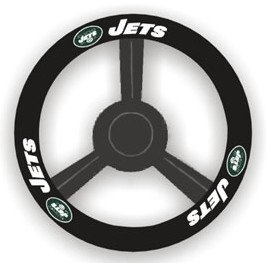 New York Jets Leather Steering Wheel Cover by Hall of Fame Memorabilia