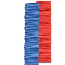 Youth Pinnies 144 Pack Blue Red (PAC) by SSG