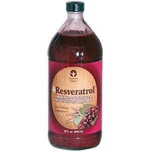Genesis Today - 4RESVERATROL - 32oz Highly Absorbable Liquid Supplement - 4 Resveratrol