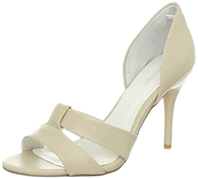 Calvin Klein Women's Solita Shiny S Nappa Pump,Natural,8 M US