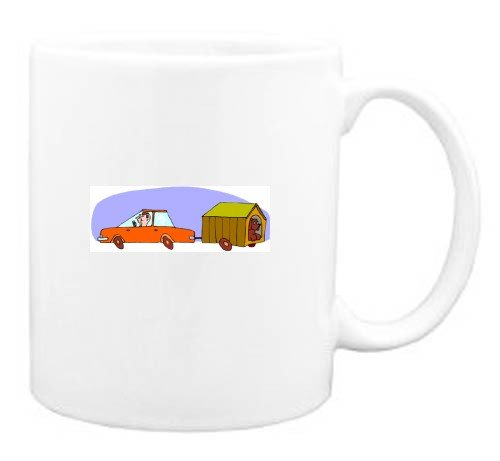 Mug with travel, trip, car, pet, dog, vacation