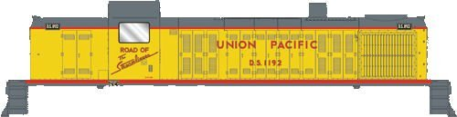 walthers-diesel-alco-rs-2-standard-dc-assembled-union-pacific-ds-1192-armour-yellow-red-gray-ho-by-w