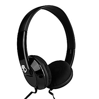 Skullcandy Uprock Stereo 3.5 Headset With Mic On/Off Button Black, Compatible With All 3.5Mm Cell Phones. (Compatible With Apple Iphone 5)