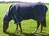 Mark Todd Heavyweight Pony Turnout Rug Combo-Navy/ Ocean Blue 4'9''