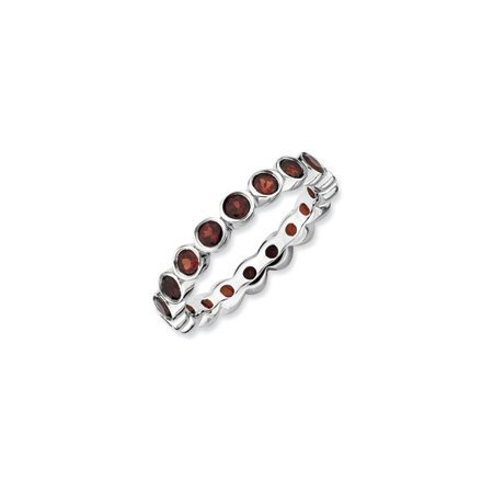 Stackable Expressions : 3.5mm Silver Garnet Band - Size T