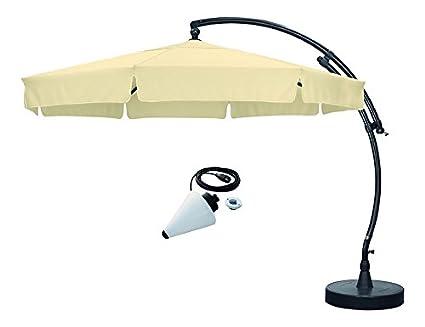 Sun Garden Easy Sun Parasol déporté Plus ø3,50m Set avec pied d'écran et étui beige