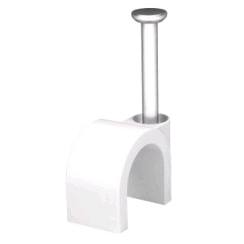 Weiß 20 x 5 mm Runde Kabel Clips Sichern Befestigungen Kabel