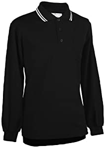 Adams USA Smitty Major League Style Long Sleeve Umpire Shirt with Front Chest Pocket (Black, 4X-Large)