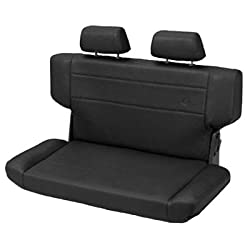 Trailmax II Fold & Tumble Rear Bench Seat Vinyl Black 1997-2006 Jeep Wrangler TJ # 39435-01