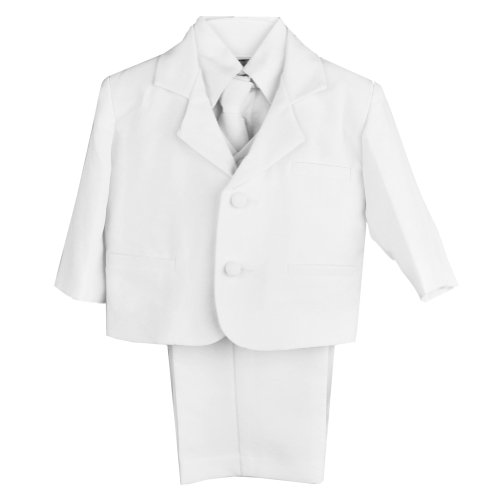 Classic Baby Boys Suit in White-White/White-L