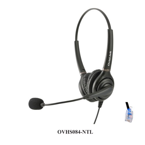 Dual Ear Call Center Headset For Nortel Meridian Norstar Business Phones